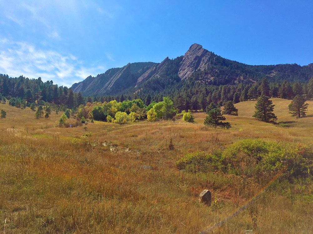 The flatirons in Boulder